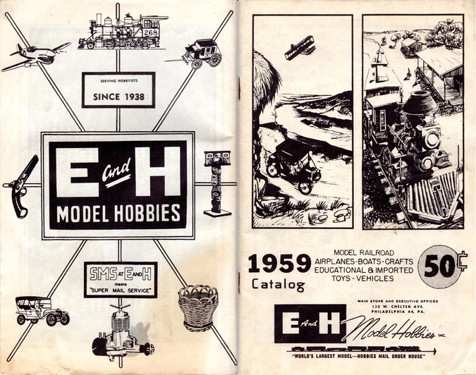 E and H Model Hobbies 1959 catalog
